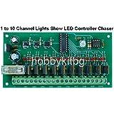 1A 10canal espectáculo de luz LED programable controlador Chaser Pic microcontoller