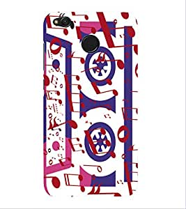 PrintVisa Designer Back Case Cover for Xiaomi Redmi 4 (4X) :: Redmi 4X (Animated Music Cassete Pic)