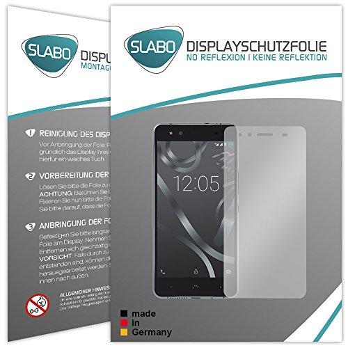 2 x Slabo Bildschirmfolie für BQ Aquaris X5 Bildschirmschutzfolie Zubehör