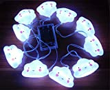 1.5M 10LED Wolken Lichterkette Batteriebetriebene Weihnachtliche mit Lichterkette Warmweiß - Transparente Stern für Party Deko, Garten Deko, Weihnachten, Hotel, Fest Deko,Hochzeit, Geburtstag