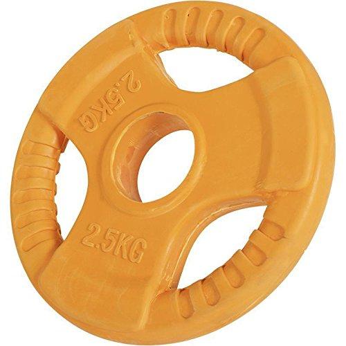 Hantelscheiben Gripper Gummi mit Eingriff 1,25kg-25kg, 50/51mm (2.5KG Orange)