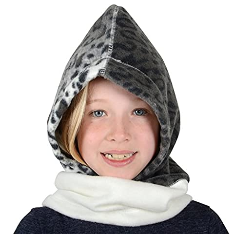 Childrens Polar Fleece Hood Snood Balaclava Neck Warmer Hat Mask