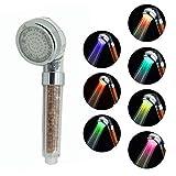Duschkopf mit LED-Beleuchtung in 7 Farben, langlebig, Druck, 7 Colors, Large