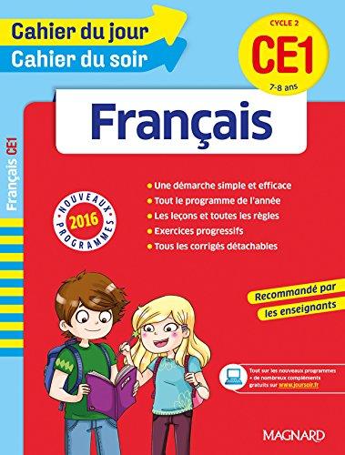 Cahier du jour/Cahier du soir Français CE1 – Nouveau programme 2016