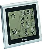 Funk-Wetterstation mit Wetterprognose / justierbare barometrische Wettervorhersage, Thermometer / Hygrometer für Innen und Außen und viele weitere Funktionen