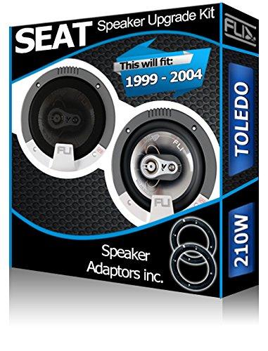 Porte avant SEAT TOLEDO Orateurs FLI Haut-parleurs de voiture + adaptateur pour haut-parleur gousses 210 W