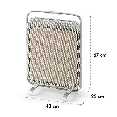 Klarstein HeatPal Marble • Infrarot-Heizpanel • Infrarot-Heizung • Weiß oder Silber oder Kupfer von Klarstein - Heizstrahler Onlineshop