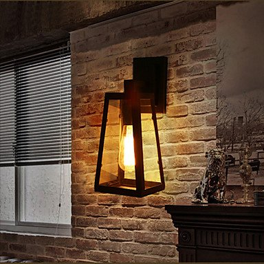 Applique Murale Luminaires Intérieur Noir Fer Forgé Applique Murale Luminaires Intérieur à LED rétro Econce lampe Corridor mur d