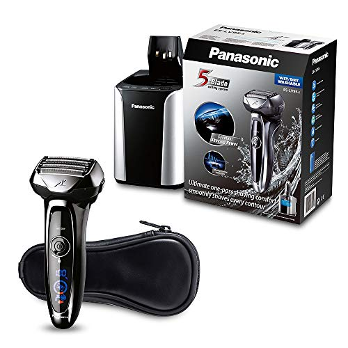 Panasonic ES-LV95 Máquina de afeitar de láminas Recortadora Negro - Afeitadora (Máquina de afeitar de láminas, Negro, LED, Batería, Ión de litio, 1 h)