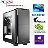 PC24 Gamer PC | Intel i7-8700K @6x4,50GHz | 1TB Samsung M.2 970 EVO | nVidia GF GTX 1080 mit 8GB RAM | 32GB DDR4 PC2133 RAM G.Skill | GA Z370 AORUS Ultra Gaming | Windows 10 Pro | i7 Gaming PC