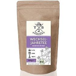 Wechseljahre Tee in Bio-Qualität zu Menopause u. Hitzewallungen mit Rotklee, 100g (ca. 40 Tassen)| Tea2Be by Sarenius