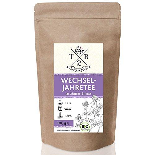 Wechseljahre Tee in Bio-Qualität zu Menopause und Hitzewallungen mit Rotklee, 100g (ca. 40 Tassen)...