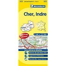 Carte DEPARTEMENTS Cher, Indre de Collectif Michelin ( 12 mars 2008 )
