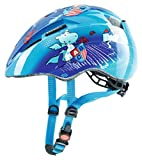 Uvex Kid 2 Casco Ciclismo, Niños, Azul Hipopótamos, 46-52