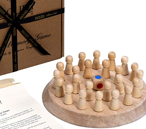 Jaques of London Wooden Memory Game Beautiful Wooden Toys and a Great Memory Games for Children of all ages. Educational Toddler Toys for 2 3 4 5 year olds.