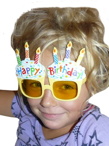 Birthday Glasses Birthday Party Happy Birthday for glasses for carnival and carnival party glasses AC08 (Jugendliche Kostüme Ideen)