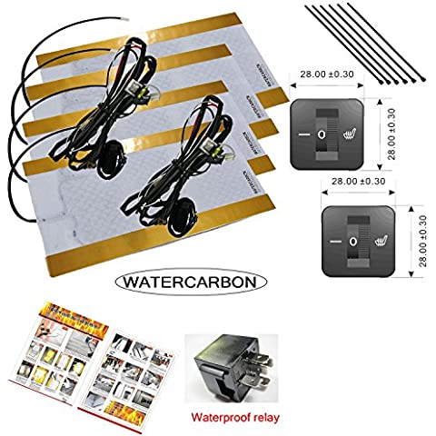 Water Carbon 3file 1quadrato retro fori di montaggio a cerchio