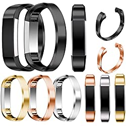 Fitbit Alta HR Replacement Band , HARRYSTORE Outdoor Sports Adjustable Stainless Steel Replacement Watch Band Wrist Strap Bracelet for Fitbit Alta HR Watch
