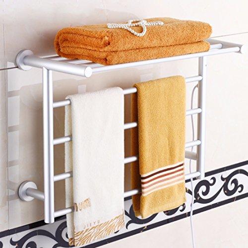 SDKIR-Espacio toallero eléctrico de aluminio accesorios de baño, toallero eléctrico