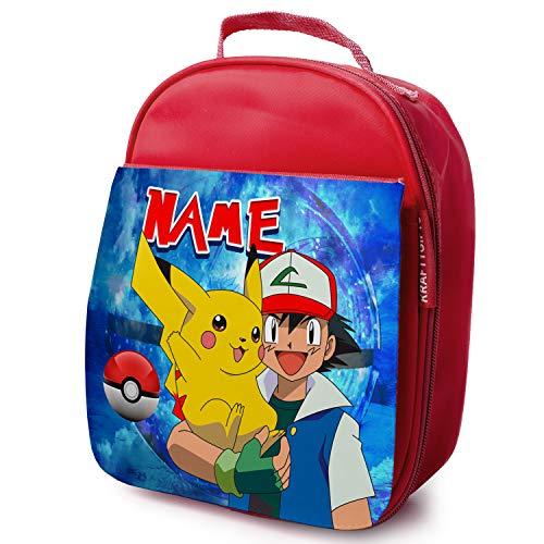 personnalisé pour enfant Sac repas isotherme–Pokémon–Rouge école glacière–Pk01
