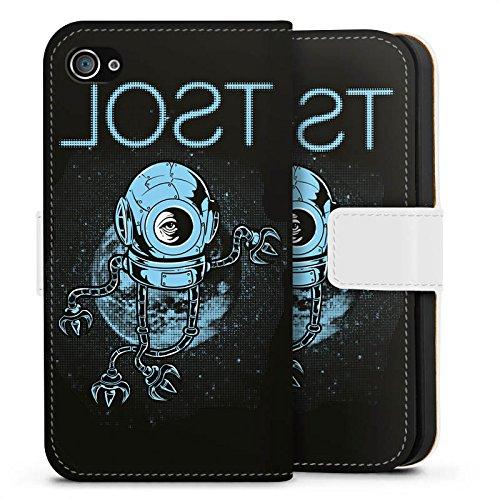 Apple iPhone X Silikon Hülle Case Schutzhülle Helm Weltraum Space Sideflip Tasche weiß