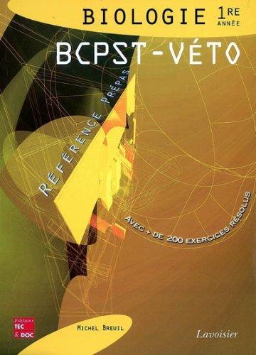 Biologie 1e année BCPST-Véto
