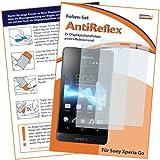 2 x mumbi Displayschutzfolie Sony Xperia Go Schutzfolie AntiReflex antireflektierend