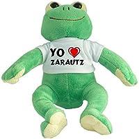 Rana de peluche con Amo Zarautz en la camiseta (ciudad / asentamiento)