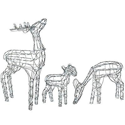 Gorgeous Garden Light Up Silhouette Reindeer's Choice of Design - Bright White Lights