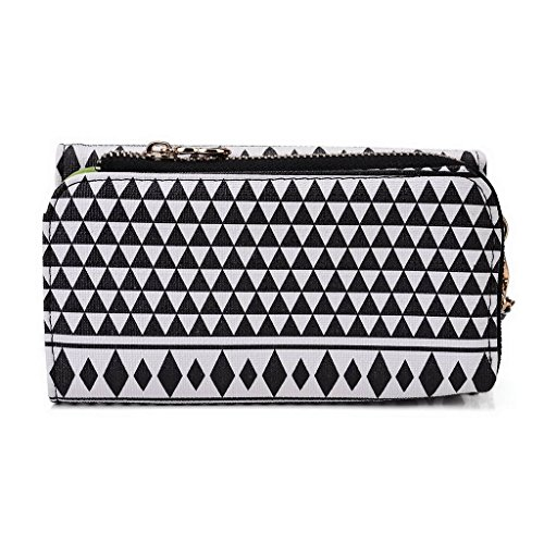 Kroo Pochette/étui style tribal urbain pour HTC One Me/Desire 820 g + Dual SIM Multicolore - White and Orange Multicolore - Noir/blanc