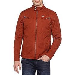 Arrow Mens Nylon Jacket (8907538756657_AJUJK4910_Medium_Dk. Red)