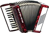 Weltmeister Piano Akkordeon Perle rotperloid