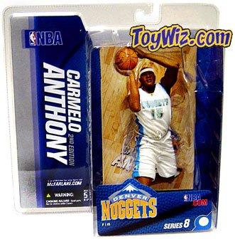 McFarlane Toys NBA Sports Picks Series 8 Action Figure Carmelo Anthony (Denver Nuggets)White Jersey by McFarlane Toys
