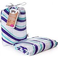 Easy Niños Ideas bmb120017a bambú wickel Toalla Enrollar pucken, o como base, Puck 120x 120cm, color azul