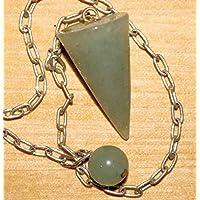 Pendel Edelstein in Kegelform aus Edelstein mit Silberkette und Endkugel - Aventurin preisvergleich bei billige-tabletten.eu