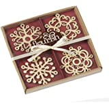 Flourish Snowflake Ornaments, Set of 4