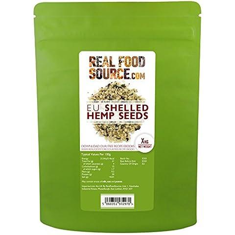 RealFoodSource British & EU Grown Raw Shelled Hemp Seeds (2kg