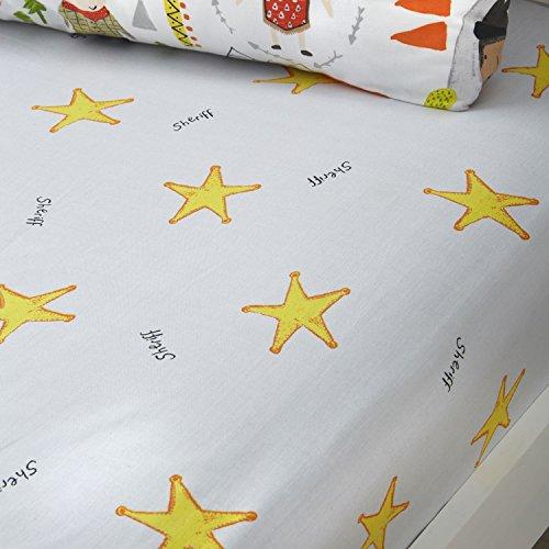 Bedlam Cowboys und Indianer 'Kinder Spannbetttuch, Junior, Polyester-, Multi, 140x 70x 15cm (Bett-tasche Für Mädchen Voll)