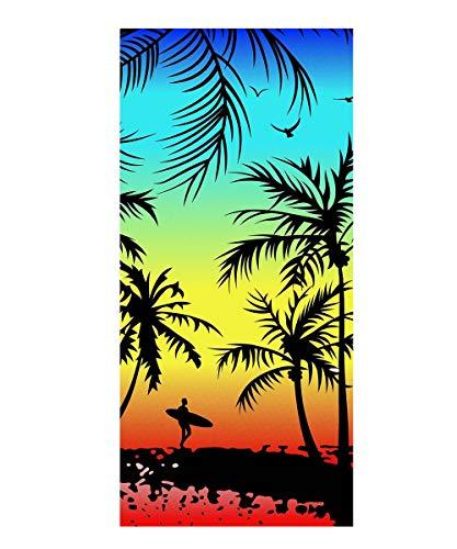 Strandtücher Badetuch Schnell Trocknend 100% Microfiber 3D Tiger Hawaii Strand Muster Handtuch,Reisen Surfen Saunatücher 70 x150 cm (Hawaii A) - Hawaii-handtuch