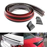 XEJ Auto Rear Spoiler Lippe Ala Posteriore 1,5 m Universale Spoiler Labbro Tail Gomma Tape