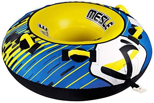 MESLE Tube Ringo 54'', Towable-Tube, 1 Person, Fun-Tube, 137 cm Wasser-Reifen für Kinder & Erwachsne, Wassersport, blau-gelb -