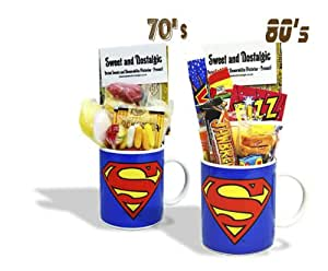 Sweet and Nostalgic Superman Mug with a superhuman portion of 80's Sweets 630gms