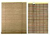 Persiana estor de lamas de bambú para ventana de interior en color nogal (100 x 300)