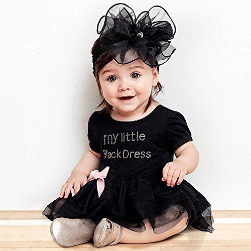 Polnische Kostüm Jungen - Oyedens Baby Kleinkind Kostüm, Baby Mädchen Geschen Kleider Schwarze Kleid Kinder Buchstaben Gaze-Bogen-Spielanzug Kleinkind Mädchen Kleidung