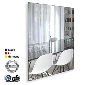 vasner zipris sr infrarotheizung spiegel 700 watt rahmenlos bad geeignet ipx4 flach design. Black Bedroom Furniture Sets. Home Design Ideas