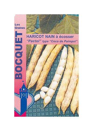 Les Graines Bocquet - Graines De Haricot Nain À Écosser Pactol 90G (Type Coco Paimpolais) - Graines Potagères À Semer - Sachet De 90Grammes
