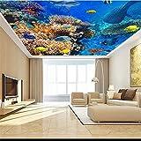 rylryl Fondo de pantalla personalizado 3d hermoso mundo submarino HD peces criaturas cenit techo fresco fondo de pantalla 3d-300x210cm