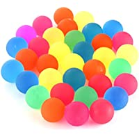 Biging 36 Pieces Jet Bouncy Balls Assorted Colourful Neon Bright Solid Colours 25mm Bouncy Balls Party Bag Filler for Kids Playtime and Prizes
