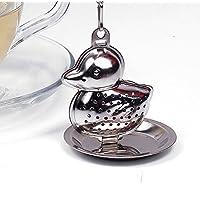 Aliciashouse In acciaio inox anatra forma filtro colino da tè foglia infusore Spice