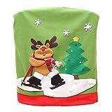 Sasairy Weihnachten Dekor Stuhl Rückseitige Abdeckung Kostüm Deko Weihnachtsstuhl Stuhlhussen Xmas Party Tabellen Dekor - Elch